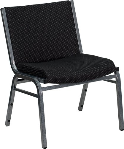 - Flash Furniture HERCULES Series Big & Tall 1000 lb. Rated Black Fabric Stack Chair