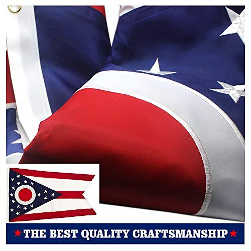 VSVO Ohio State Flag 3x5 Ft 210D Nylon Premium Outdoor Embro