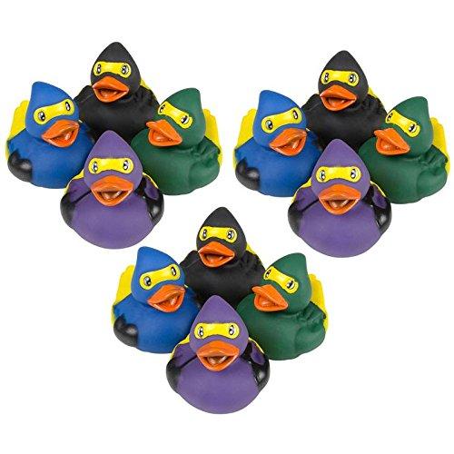 Ninja Rubber Ducks 12 Pk ()