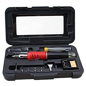 agptek 10 in 1 butane gas soldering iron kit with solder. Black Bedroom Furniture Sets. Home Design Ideas