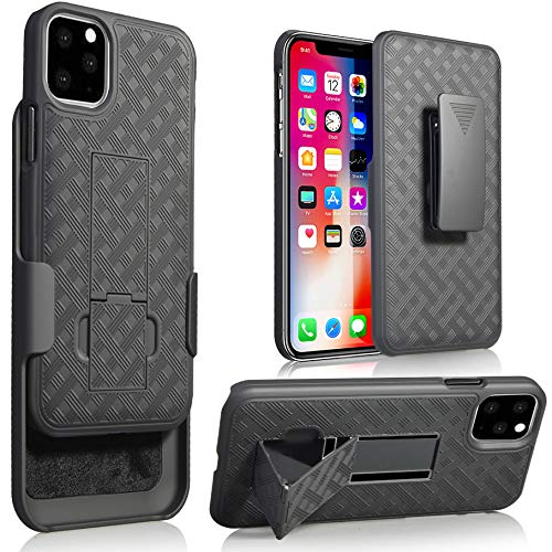 Moona iPhone 11 Pro Case with Belt Clip Holster, Shell Holster Combo Case for Apple iPhone 11 Pro 5.8 Inches with…
