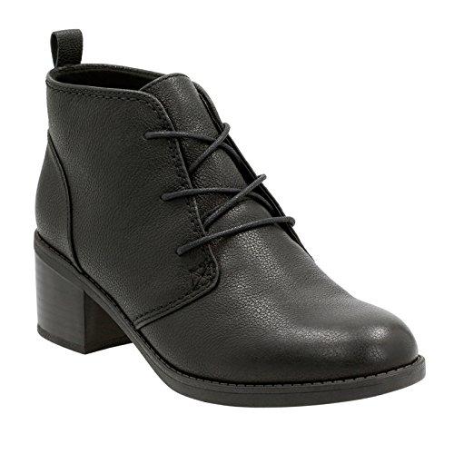 Clarks Vrouwen Nevella Harper Boot Zwart Leer