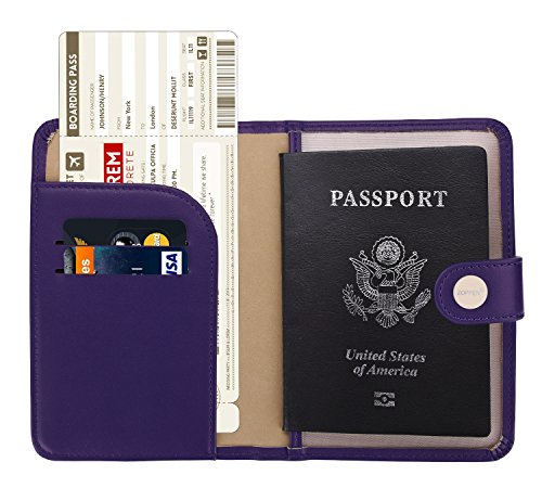 Zoppen Unisex RFID Blocking Travel Passport Holder Id Card Cover, #8 Lilac Purple