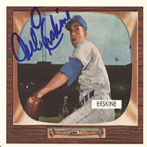 Brooklyn Dodgers Replica - Carl Erskine Autographed / Signed Replica 1953 Topps Brooklyn Dodgers Baseball Card #170