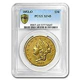 #8: 1852 O $20 Liberty Gold Double Eagle XF-45 PCGS G$20 XF-45 PCGS
