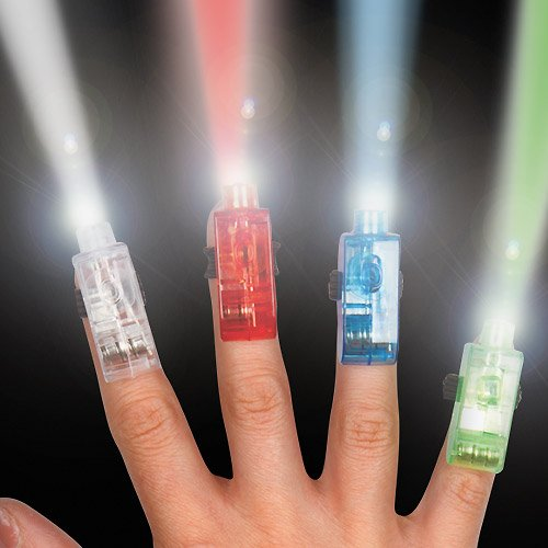 Baker Ross Finger Lights Perfect Stocking Stuffer for Children to Play with (Pack of 4)