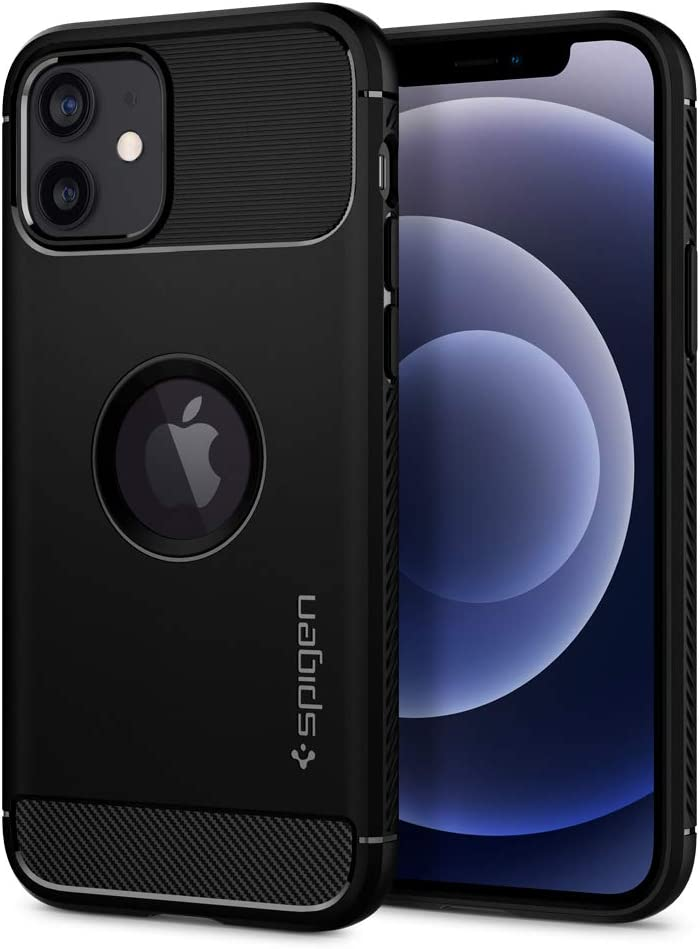 Spigen Rugged Armor Designed for Apple iPhone 12 Case (2020) / Designed for iPhone 12 Pro Case (2020) - Matte Black
