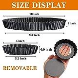 Gutsdoor 10 Inch and 4 Inch 5 Pack Tart Pan with