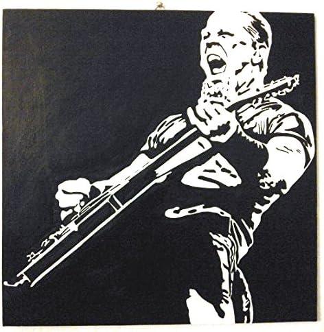 James Hetfield – Metallica Heavy Metal Band – Marco Panel Madera MDF pintado a mano Pop Art Effect (tamaño 40 x 40 cm): Amazon.es: Hogar