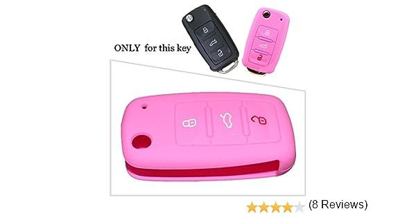 Tuqiang Silicona Funda llave del coche de 3 botones para VW Amarok ...