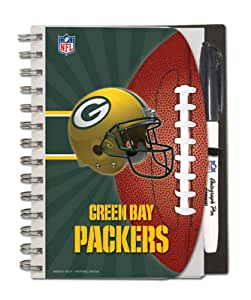 Green Bay Packers Deluxe Hardcover, 5 x 7 Inches Autograph Book and Pen Set, Team Colors (12025-QUJ)