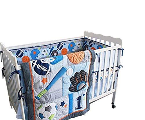 - New 7 Pieces Baby Boy Sport Crib Bedding Set