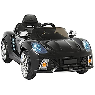 Best Choice Products 12V Kids Battery Powered Remote Control Electric RC Ride-On Car w/ 2 Speeds, LED Lights, MP3, AUX by Best Choice Products