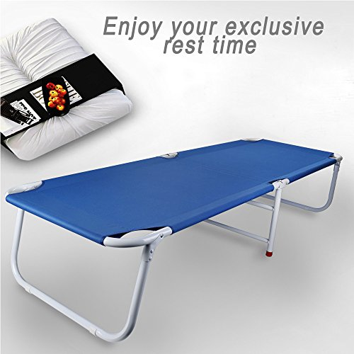 Folding Camping Bed, Indoor Guest Bed, Office Comfortable Sleeping Bed for Adult Single Size