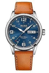 Hugo Boss Men 1513331 Year-Round Analog Quartz Brown Watch