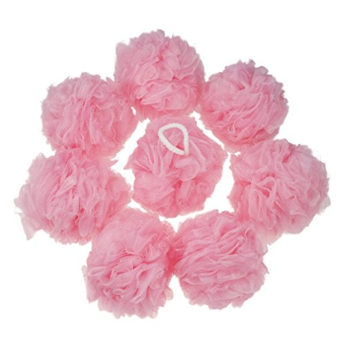 Anbers Pink Bath Sponges, Large Size, Pack of 8 ()
