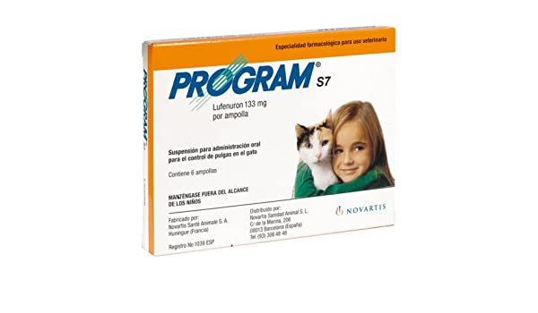Novartis 002837 Program S7 Gato - 6 Ampollas: Amazon.es: Productos para mascotas