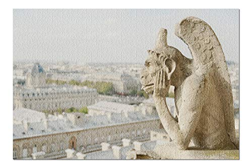 Gargoyle on Notre Dame, France Photography A-91332 (20x30 Premium 1000 Piece Jigsaw Puzzle, Made in USA!)