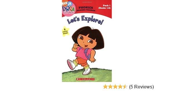 amazon com dora the explorer phonics reader program let s explore
