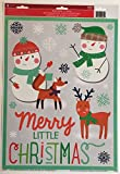 Merry Little Christmas Window Clings 8 Pack