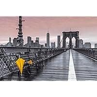 Beyond The Wall Assaf Frank New York City Brooklyn Bridge Umbrella Decorative Travel Photography Art Print Poster
