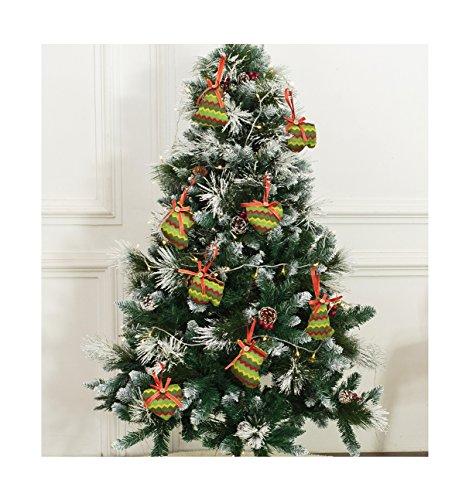Christmas Tree Ornaments Stocking Decorations - 8pcs Christmas Stocking Tree Heart Glove Holiday Party Decor (Unique Christmas Tree)