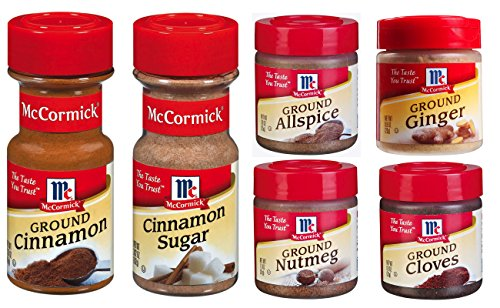 - Assorted McCormick Baking Spices Variety Pack, 6 count