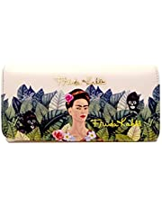 Authentic Frida Kahlo, Jungle Series Organizer Wallet- Red Interior