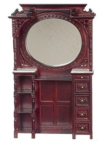 Mahogany Victorian Cabinet - Platinum Collection Dollhouse Miniature Victorian barber cabinet Mahogany #P3412