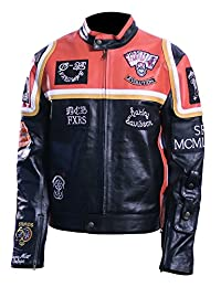 Men's Motor Biker Real Leather Jacket.