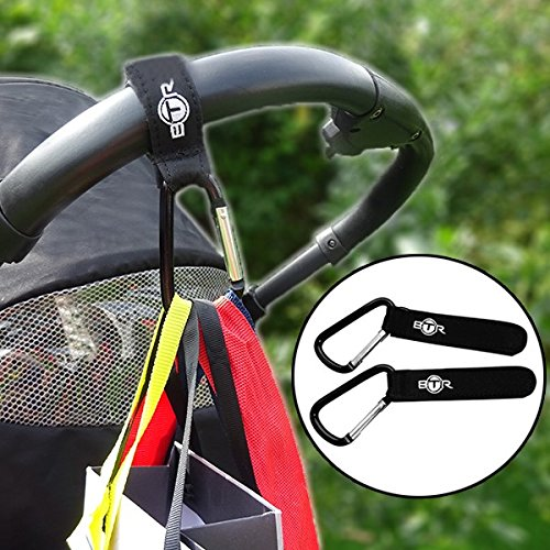 BTR Stroller Organizer with Stroller Hooks x 2. Baby and Pushchair Accessory That Fits Most Buggies, Prams and Strollers. by BTR (Image #7)