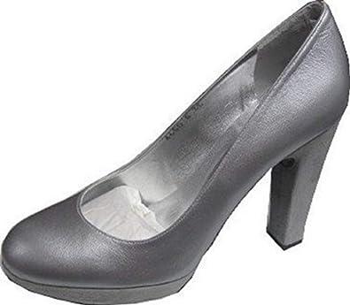 1cdd576932d183 Madan Pumps High Heels Leder - Farbe Silber Gr. 40  Amazon.de  Schuhe    Handtaschen