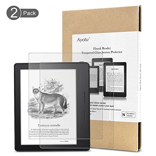 Guard Anti Glare - Ayotu Kindle Oasis Matte(Anti-Glare) Screen Protector,Screen Guard,Premium 9H Hardness Tempered Glass Film (2-PACK) with [Crystal Clear] [Scratch-Resistant] for Amazon New Kindle Oasis 2017 Version