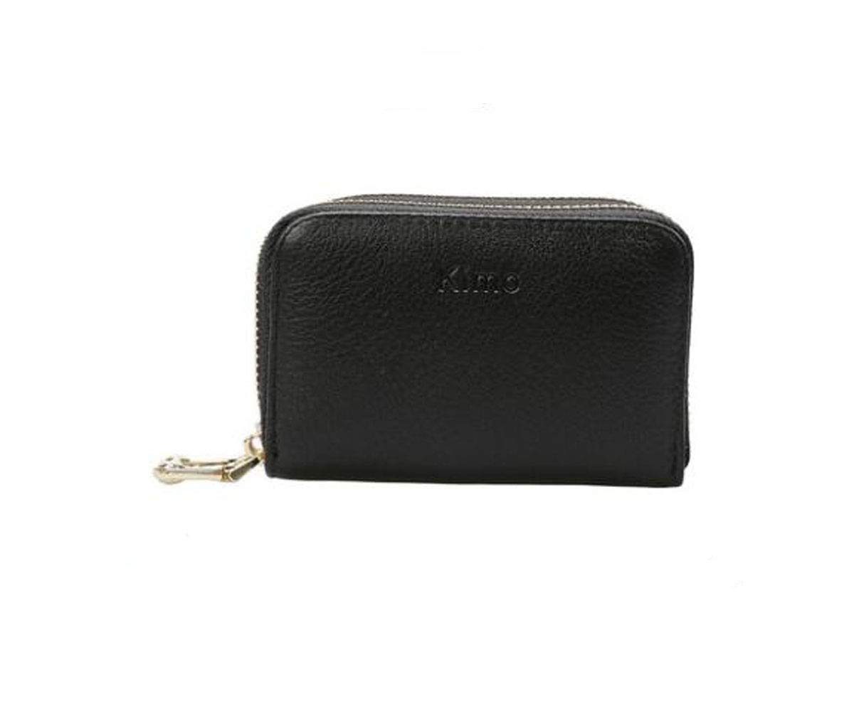 cm Stealth Mode Blocking Leather Wallet Kalmar RFID Travel Wallet Color : Black, Size : 4.081.723.04 inch Black Size 19 4 12 Suitable for Womens Multi-Function Double Zip Wallet