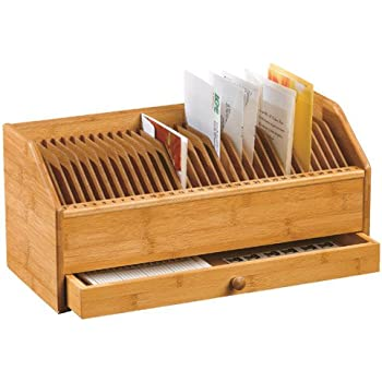 Amazon.Com : Bamboo Monthly Bill / Invoice Organizer With Drawer