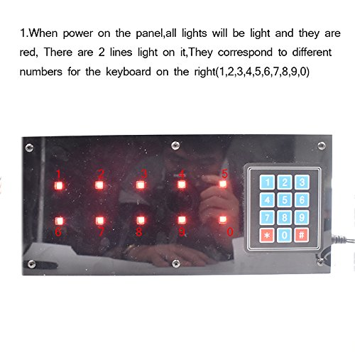 Escape Room Props Shorthand Panel Control 12V EM Lock for Opening Door Escape Room the Game Expansion