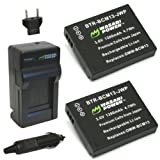 panasonic camera battery charger - Wasabi Power Battery (2-Pack) and Charger for Panasonic DMW-BCM13, DMW-BCM13PP and Panasonic Lumix DMC-FT5, DMC-LZ40, DMC-TS5, DMC-TS6, DMC-TZ37, DMC-TZ40, DMC-TZ41, DMC-TZ55, DMC-TZ60, DMC-ZS27, DMC-ZS30, DMC-ZS35, DMC-ZS40, DMC-ZS45, DMC-ZS50