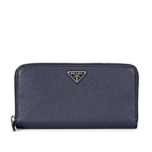 Prada Triangolo Saffiano Leather Continental Wallet - Baltico
