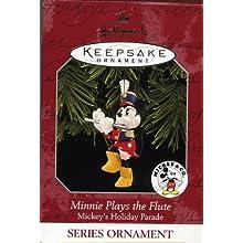 Hallmark Keepsake Ornament Minnie Plays the Flute Mickey's Holiday Parade 1998 QXD4106