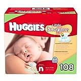 Huggies Little Snugglers Diapers, Newborn (Up to 10 lbs.), 108 ct by Huggies (English Manual)