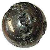 Pyrite Ball 54 Golden Treasure Cluster Sphere Ultimate Happiness Health Stone Display Crystal 2.5''