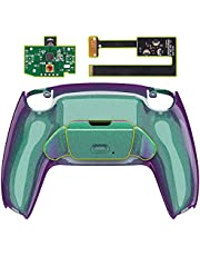 eXtremeRate Chameleon Green Purple Programable Rise Remap Kit for PS5 Controller BDM-010, Upgrade Board & Redesigned Back Shell & Back Button Attachment for PS5 Controller - Controller NOT Included