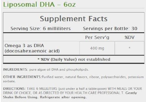 Liposomal DHA Vegan Non GMO Non Allergen 6oz