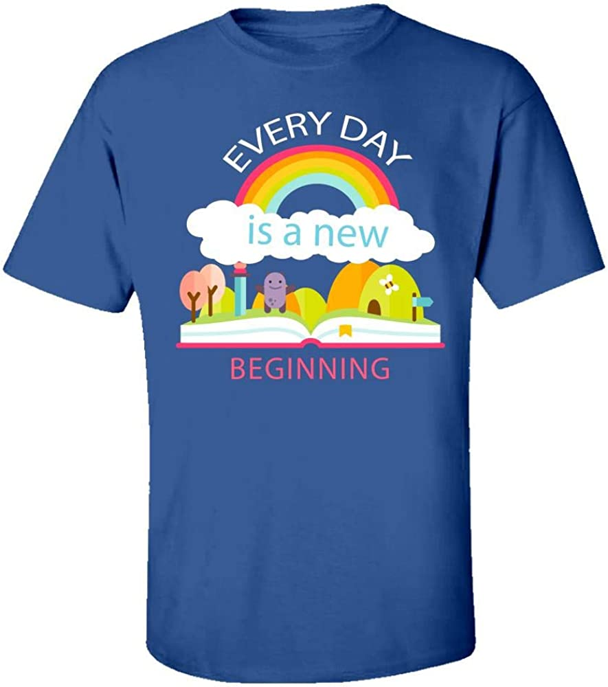 Kids T-Shirt Every Day is A New Beginning Cool Creative Design
