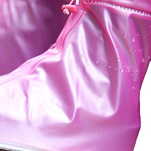 Pioggia Bianco Rosa Vogue Uomo Da Donna Stivali La Copriscarpa impermeabile 28cm Pnxd8v