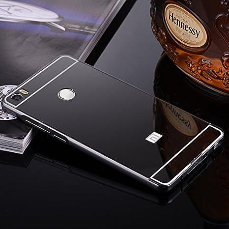 the latest 57337 a01ae RGSG Luxury Metal Bumper + Acrylic Mirror Back Cover Case for XIAOMI REDMI  4 2017 Black