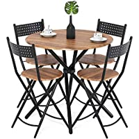 Homury 5pcs Dining Table Set Kitchen Table Kitchen...