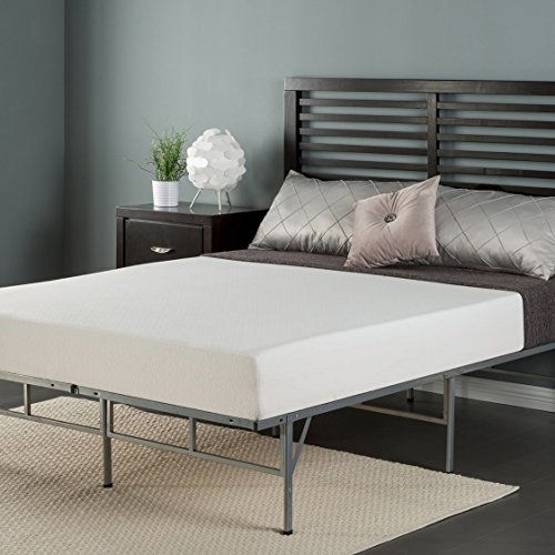Zinus 8 Inch Memory Foam Mattress and Easy To Assemble Smart Platform Metal Bed Frame, Twin