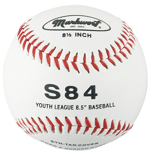 Markwort 8 1/2-Inch Junior Size Youth League Synthetic Cover Baseball (Dozen)