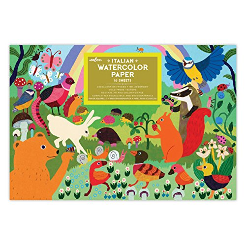eeBoo Woodland Watercolor Paper Pad
